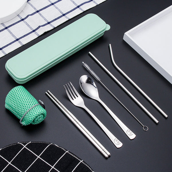 Reusable Cutlery & Straw Set - Green