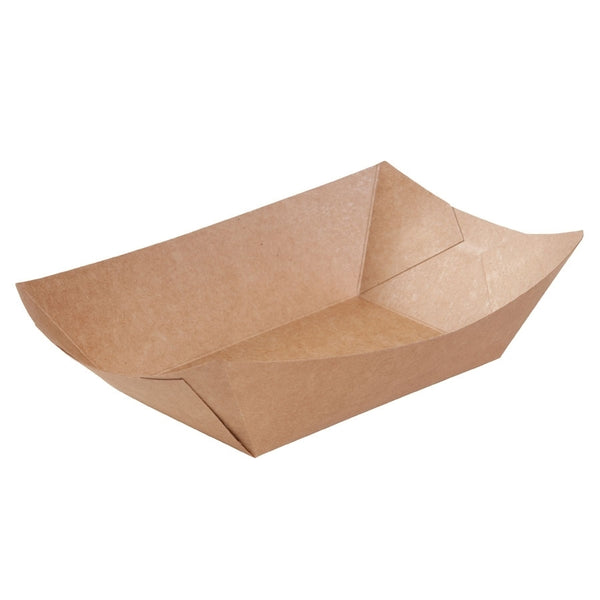 Brown cardboard food trays, 800ml / 26oz (500pcs.) - Naturally Chic Eco-Friendly Packaging Canada