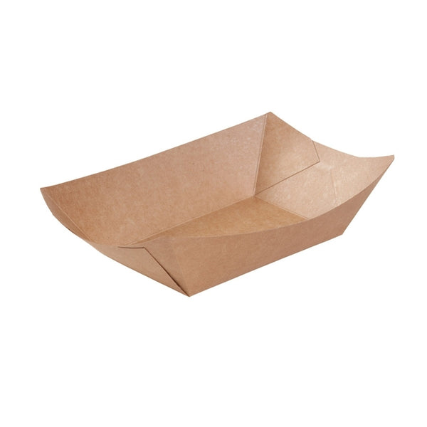 Brown cardboard food trays, 500ml / 17oz (500 pcs.) - Naturally Chic Eco-Friendly Packaging Canada