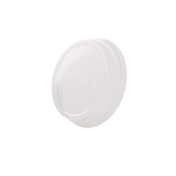 "Flat lids (PLA), closed, Ø77mm / 3"" (1000 pcs.) - Naturally Chic Eco-Friendly Packaging Canada"