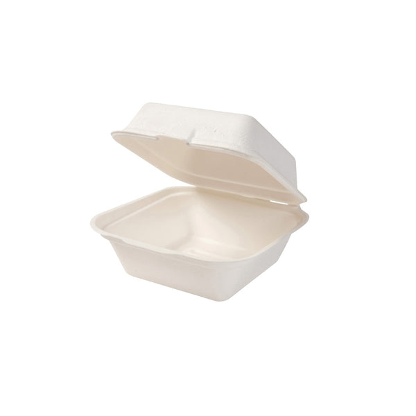 Bagasse burger boxes 450ml / 15oz (500 pcs.) - Naturally Chic Eco-Friendly Packaging Canada