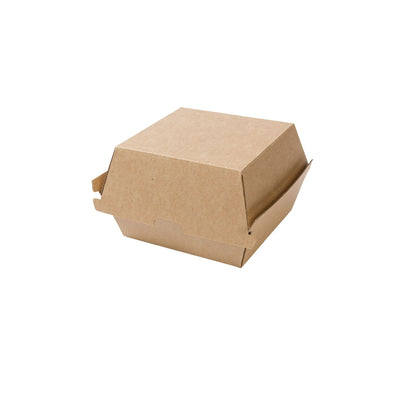Takeaway burger boxes, kraft, 450ml / 15oz (250pcs.) - Naturally Chic Eco-Friendly Packaging Canada