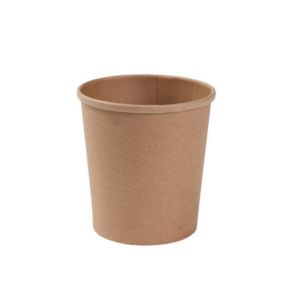 "Brown cardboard containers ""EFA, 400ml / 14oz (500 pcs.) - Naturally Chic Eco-Friendly Packaging Canada"