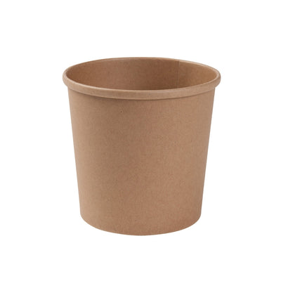 "Brown cardboard containers ""EFA"", 600ml / 20oz (500 pcs.) - Naturally Chic Eco-Friendly Packaging Canada"