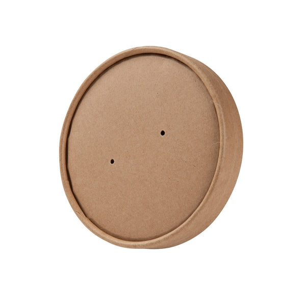 Brown membrane lids for EFA containers 400ml / 14oz (500 pcs.) - Naturally Chic Eco-Friendly Packaging Canada