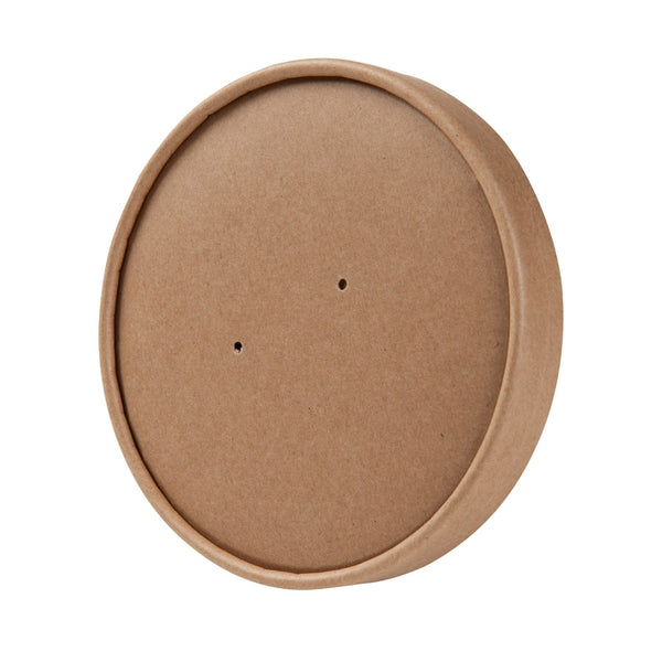 Brown membrane lids for EFA containers 600/800ml / 20/26oz (500 pcs.) - Naturally Chic Eco-Friendly Packaging Canada