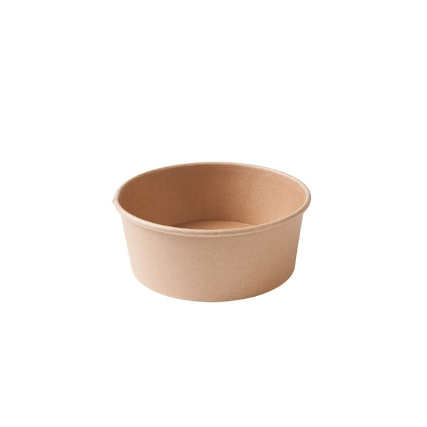 Round cardboard containers, 650ml / 22oz, brown (300pcs.) - Naturally Chic Eco-Friendly Packaging Canada