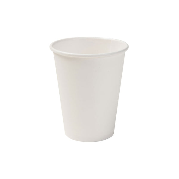 White biodegradable paper cups, 200ml / 8oz (1000 pcs.) - Naturally Chic Eco-Friendly Packaging Canada
