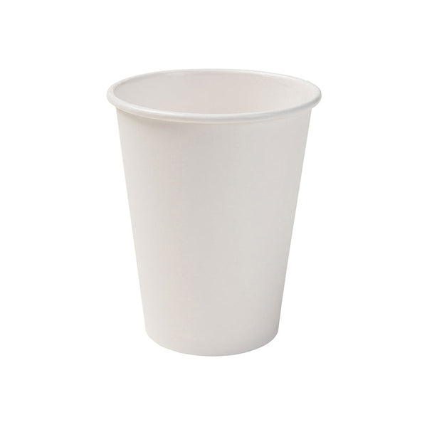 White biodegradable paper cups, 300ml / 12oz (1000 pcs.) - Naturally Chic Eco-Friendly Packaging Canada