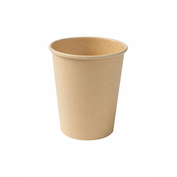Unbleached bio paper cups, 200ml / 8oz (1000 pcs.) - Naturally Chic Eco-Friendly Packaging Canada