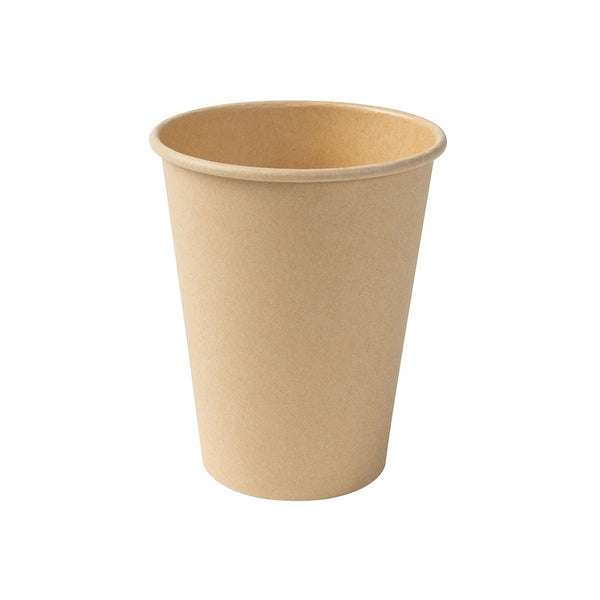 Unbleached bio paper cups, 300ml / 12oz (1000 pcs.) - Naturally Chic Eco-Friendly Packaging Canada