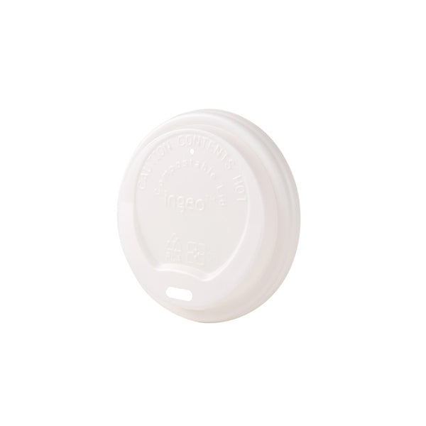 "Bio coffee cup lids (CPLA),  80 mm / 3 1/8"" (1000 pcs.) - Naturally Chic Eco-Friendly Packaging Canada"