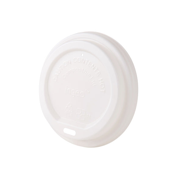 "Bio coffee cup lids (CPLA), 90 mm / 3.5"" (1000 pcs.) - Naturally Chic Eco-Friendly Packaging Canada"
