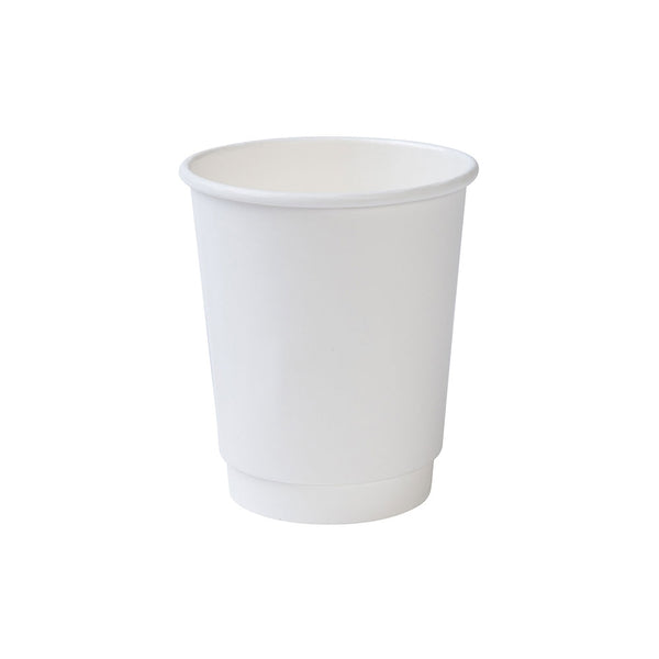 White double wall paper cups, 200ml / 8oz (500 pcs.) - Naturally Chic Eco-Friendly Packaging Canada