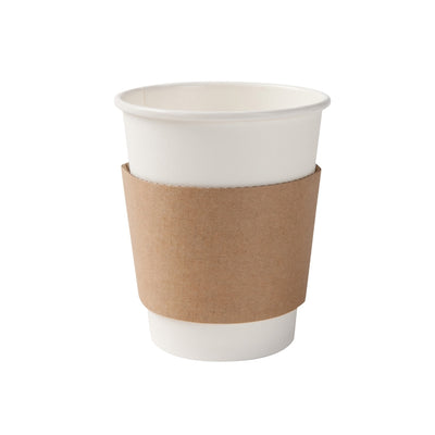 Coffee sleeves for 200ml / 8 oz bio paper cup (1000 pcs.) - Naturally Chic Eco-Friendly Packaging Canada