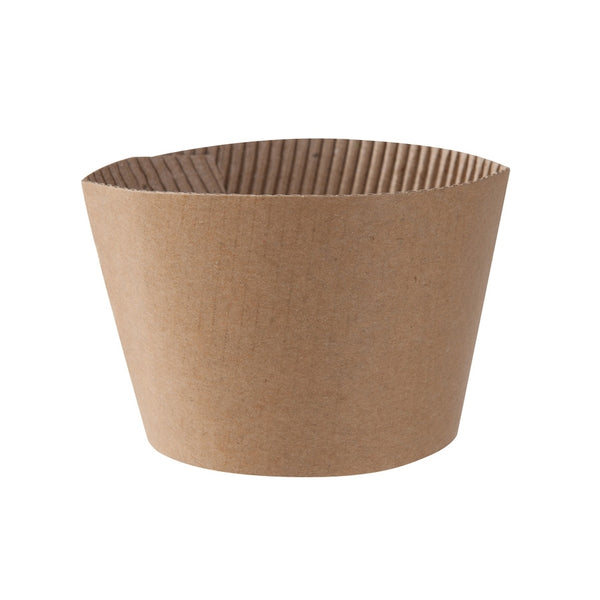 Coffee sleeves for 300/400 ml / 12/16oz bio paper cup (1000 pcs.) - Naturally Chic Eco-Friendly Packaging Canada