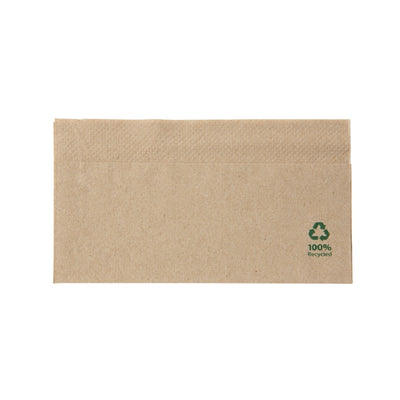 "rPaper napkins brown, 32 x 32 cm (12.5"" x 12.5"") 1 layer, 1/8 fold (6000 pcs.) - Naturally Chic Eco-Friendly Packaging Canada"