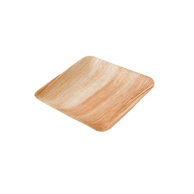 "Square palm leaf plates, 20x20cm / 8"" (200 pcs.) - Naturally Chic Eco-Friendly Packaging Canada"