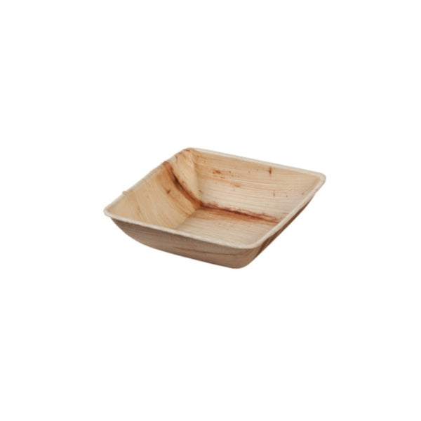 "Square palm leaf bowls, 300ml / 10oz / 5"" (200 pcs.) - Naturally Chic Eco-Friendly Packaging Canada"
