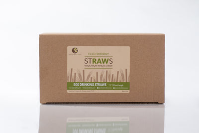 "Biodegradable Raw Straws, 190mm / 7.5"" (1000 pcs.)"