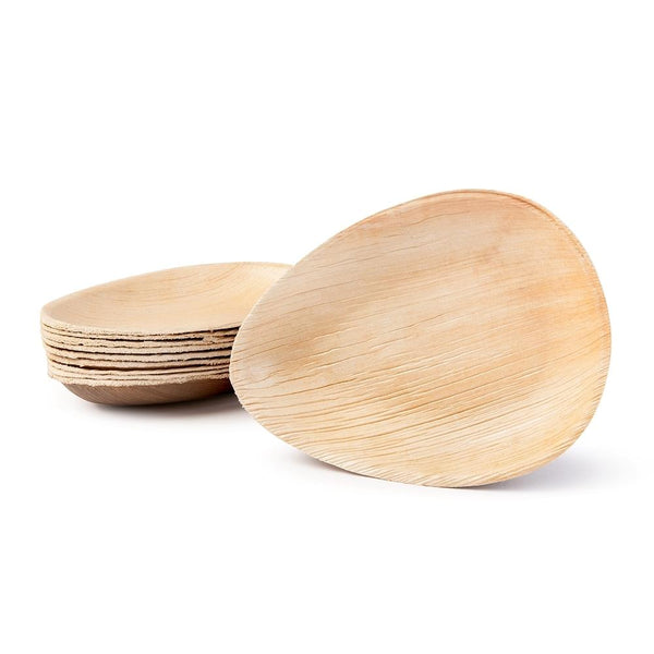 "Oval palm leaf plates, deep, 17cm / 6.5"" (200 pcs.) - Naturally Chic Eco-Friendly Packaging Canada"