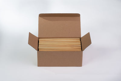 "Biodegradable Raw Straws, 190mm / 7.5"" (10,000 pcs.)"