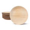 Naturally Chic 9 Inch Round Palm Leaf Plates Bulk 200 Pack Wholesale