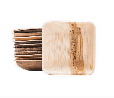 "Square palm leaf dish, 80ml / 2.5oz / 3"" (800 pcs.) - Naturally Chic Eco-Friendly Packaging Canada"