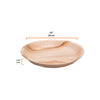 "Round palm leaf plates, 25cm / 10"", deep (200 pcs.) - Naturally Chic Eco-Friendly Packaging Canada"