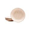 "Round palm leaf plates, 15 cm / 6"" dia. (200 pcs.) - Naturally Chic Eco-Friendly Packaging Canada"