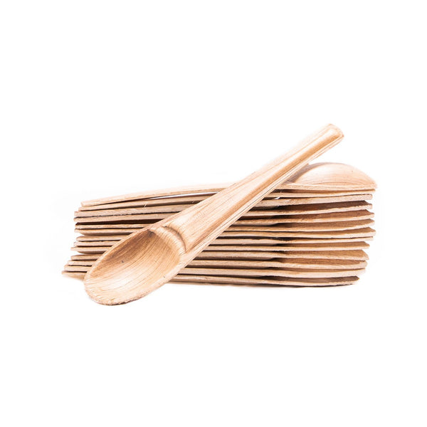 "Palm leaf tea spoons, 14cm / 5.5"" (2000 pcs.) - Naturally Chic Eco-Friendly Packaging Canada"
