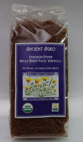 Ancient Agro Whole Wheat Ethiopian Emmer Vermicelli 16 Oz