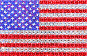 AMERICAN FLAG - Crystal Sticker