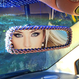 Bling Chrome Faceted Rear View Mirror Cover
