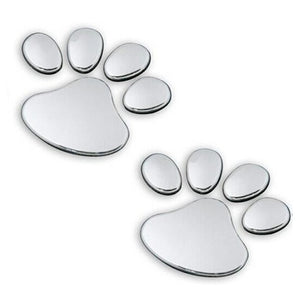 Chrome Sticker: PAW SILVER
