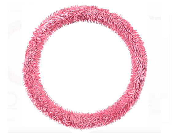 Steering Wheel Cover: PINK SHAG