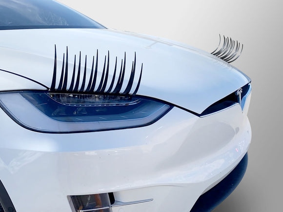 Carlashes for Tesla Model X (2015-present) - Classic BLACK or PINK
