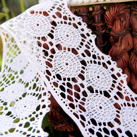 Beautiful Classic Cluny White Lace Trim 2??