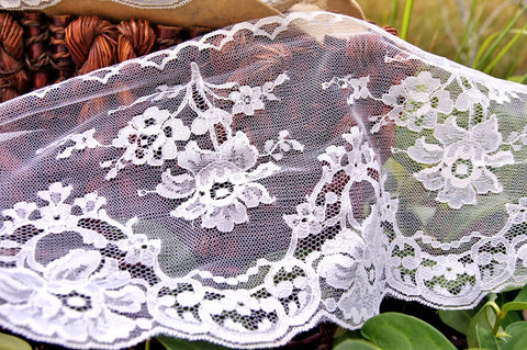Exquisite Shiny Floral Vintage Bridal Lace 7