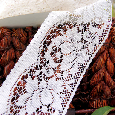 Big Rose Off White Insertion Lace 3½