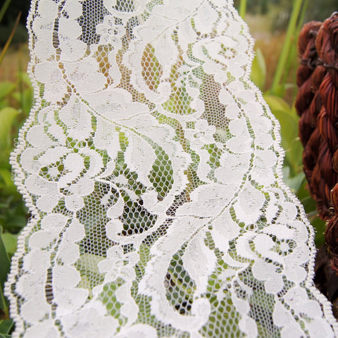 Elegant Off White Floral Galloon Lace 5'' wide