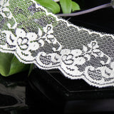 "2½"" Floral Ivory Scalloped Lace Trim"