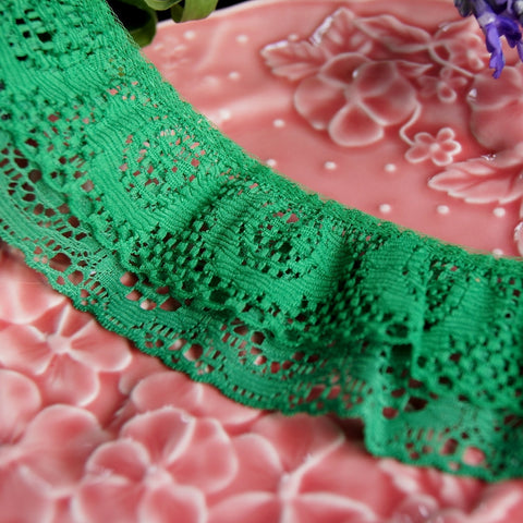 Double Ruffle Lace Trim