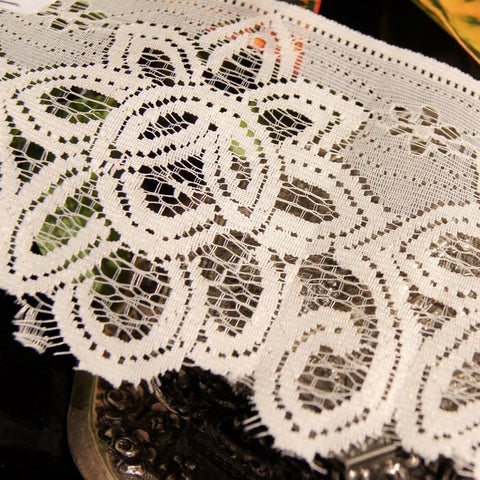 Big Floral Cream Lace Trim