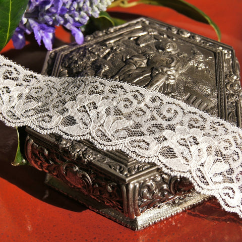 Soft Floral Embroidery Lace Trim 1¼