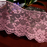 Dusty Rose Floral Lace Trim