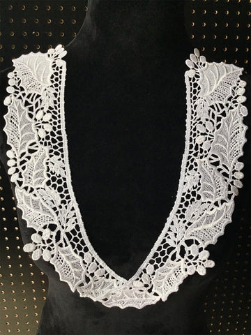 White Venise Lace Collar Pair #5013