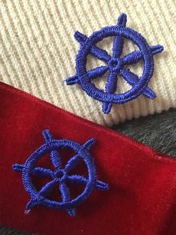 Navy Ship Wheel Decorative Embroidery Applique Sewing Vintage Patch #5100