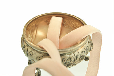 Pale Peach Pink Velvet Ribbon Vintage from France 9mm