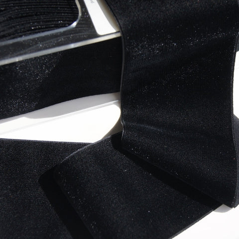 Black Velvet Ribbon Vintage from Switzerland 72mm